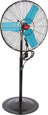 OEMTOOLS 23979 30 Inch High-Velocity Pedestal Oscillating Misting Fan, Outdoor Water and Dust-Resistant Cooling Option, 7200 CFM, GFCI Plug, Ideal for Jobsites, Restaurants, Patios, and More, Black