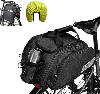 Beautylife 168 Bike Trunk Bag Bicycle Pannier Bag, Water Resistant Rear Seat Trunk Bag Bike Commuter Carrier Bag with Rain Cover & Shoulder Strap