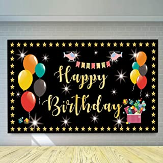 Large Happy Birthday Banner,Colorful Hanging Flag, Kids Children's 1st 2nd 3rd 5th Birthday Party Outdoor Decoration Supplies (6 * 3.3 ft)