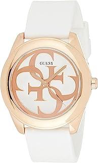 Guess G Twist White Dial Silicone Strap Ladies Watch W0911L5