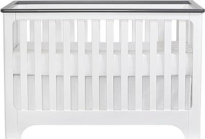 Suite Bebe Brooklyn Island 3-in-1 Crib- White/Grey