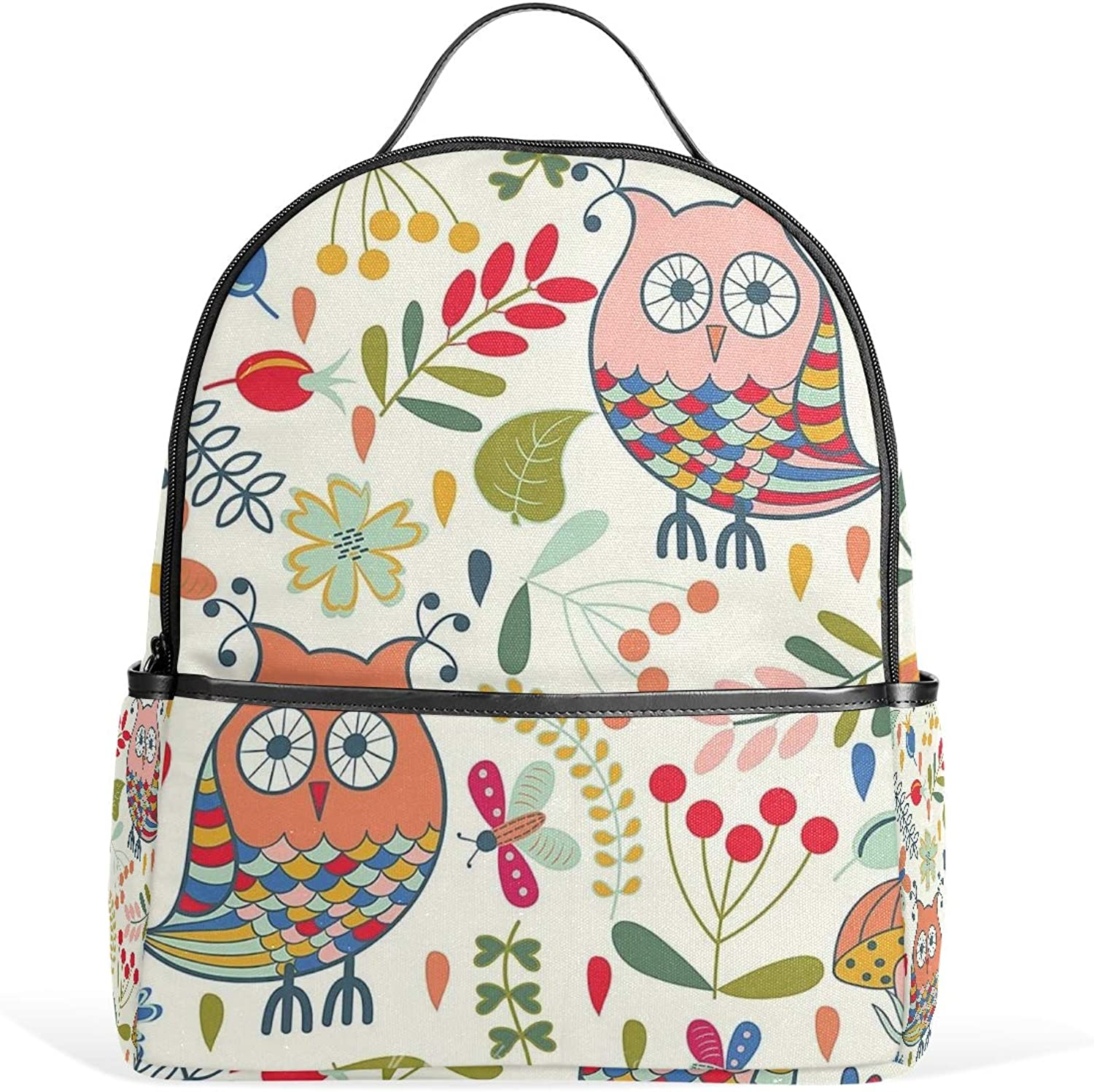 colorful Owls Backpack for Men Women Back Pack Bag College Daypacks Teenagers's Travel bagpacks Casual Daypack for Travel