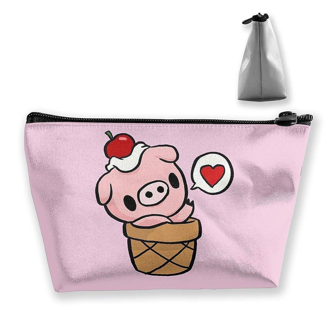かわいいカワイイピンクピギー ペンケース文房具バッグ大容量ペンケース化粧品袋収納袋男の子と女の子多機能浴室シャワーバッグ旅行ポータブルストレージバッグ