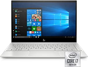 "HP Envy 13"" Thin Laptop W/ Fingerprint Reader, FHD Touchscreen, 10th Gen Intel Core i7-10510U, 8GB SDRAM, 256GB Solid State Drive, Windows 10 Home (13-aq1010nr, Natural Silver)"