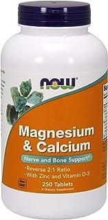 Now Foods Magnesio y Calcio con zinc y vitamina D3 250 Unidades 520 g