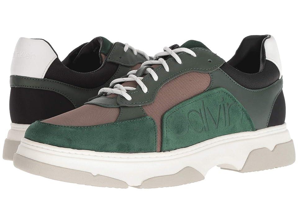 Calvin Klein Penley (Hunter/Army Fatigue/Black Smooth Calf Leather/Suede/Nylon) Men