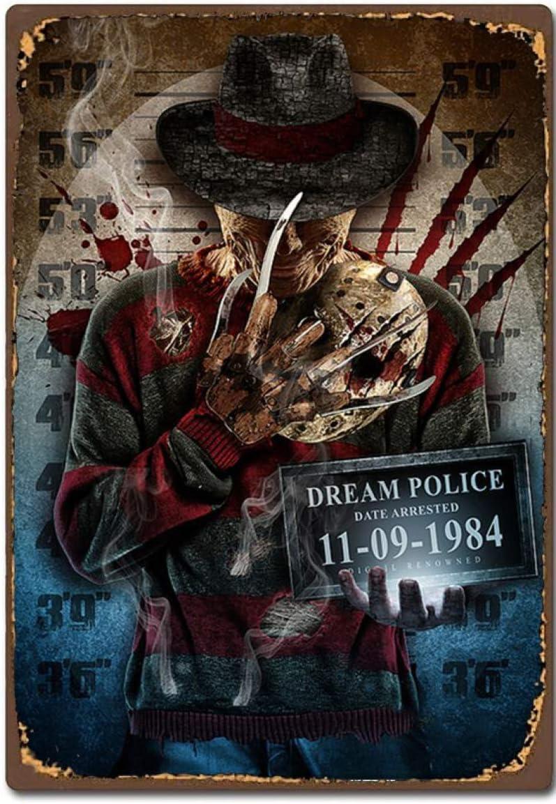 Favorite Inexpensive Nightmare On Elm Street Movie Popular popular Vint Tin Sign Retro Metal
