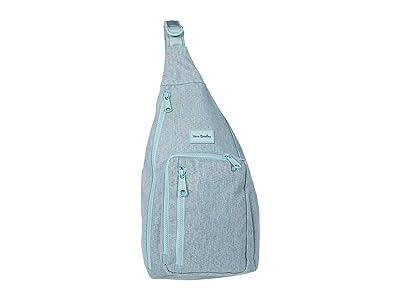 Vera Bradley ReActive Sling Backpack (Navy Mint Heather) Backpack Bags