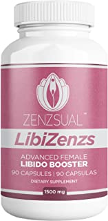Libizenzs by Zenszual - Libido Booster to Increase Sexual Desire and Energy for Women – Maca Root, Horny Goat Weed, Tribulus Terrestris, Tongkat Ali, Ashwangandha – All Natural: 90 Capsules 1500 mg