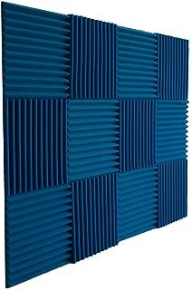 Foamily 12 Pack- Ice Blue Acoustic Panels Studio Foam Wedges 1