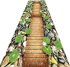 YANZHEN Hallway Runner Rugs Anti-Slip Wear Resistant Corridor Carpet Strip Foot Pad Blended Fabric, 2 Styles, Multiple Siz...