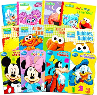 Sesame Street + Mickey Mouse Baby Toddler Beginnings Board Books & Story Books (12 Book