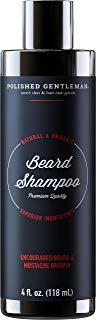 Beard Growth and Thickening Shampoo - with Organic Beard Oil - Beard Grooming kit - for Facial Hair Growth Shampoo - for Younger Looking Beard - (4oz) Small Beard - Made in USA