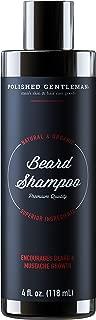 Beard Growth and Thickening Shampoo - with Organic Beard Oil - Beard Grooming kit - for Facial Hair Growth Shampoo - for Younger Looking Beard - (4oz) Small Beard - Made in USA