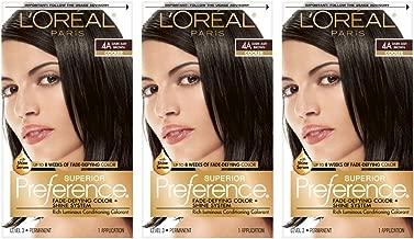 L'OrÃal Paris Superior Preference Fade-Defying + Shine Permanent Hair Color, 4A Dark Ash Brown, 3 Count, Hair Dye