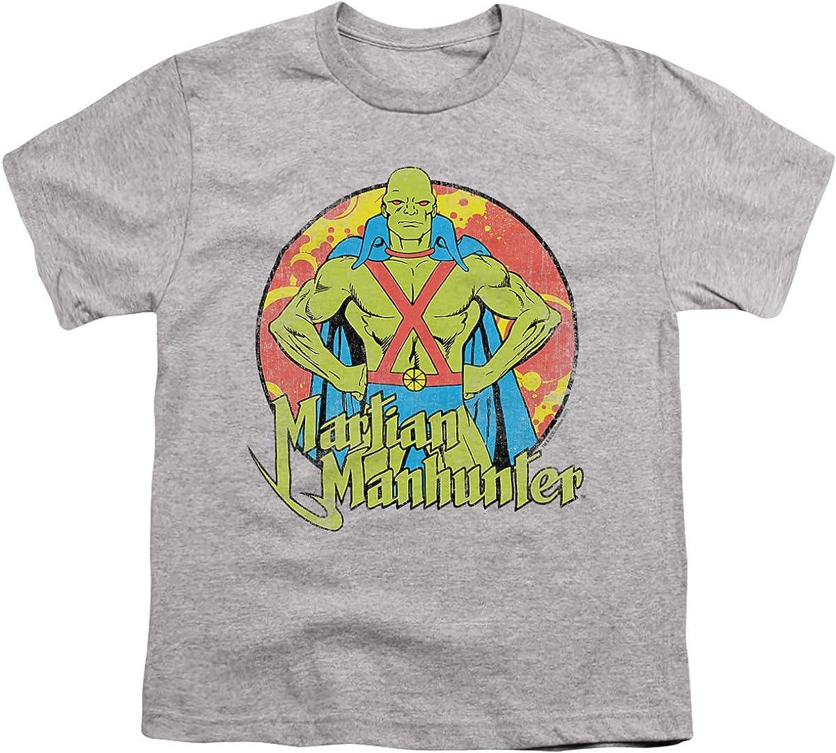 DC Martian Manhunter Unisex Youth T Shirt, Athletic Heather, X-Large