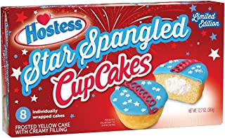 Hostess Cup Cakes [One 8 Count Package] (Star Spangled)