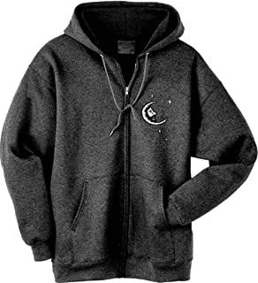 Licensed Grateful Dead Embroidered Jerry Garcia Moon Zip Up Hooded Sweatshirt by Dye The Sky