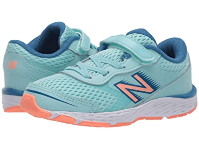 New Balance Kids 680v6 (Infant/Toddler) (Bali Blue/Mako Blue) Girls Shoes