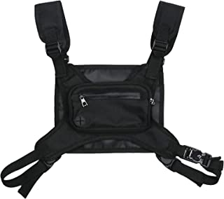 Homgee Chest Pack Chest Bag Running Chest Rig Bag for Workouts Cell Phone Accessories Holder Lightweight Chest Rig for Wal...