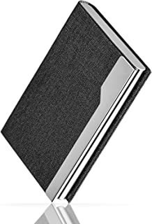 MaxGear Business Card Case Professional Business Card Holder Stainless Steel Card Holder Metal Name Card Holder for Women & Men Oracle Black
