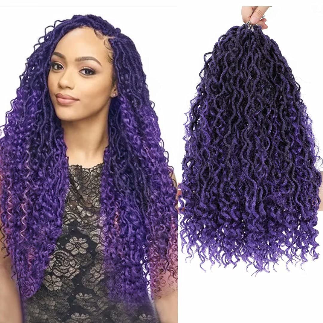 New Goddess Locs 1 year warranty Ranking TOP10 Crochet Hair 6 Packs Boho Purple 14 L inch Faux