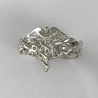 Ladies 4 Band Puzzle Ring for Registered Nurses Style 4RN