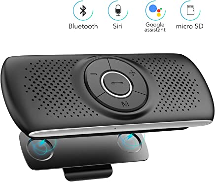 Haut-Parleur syst/ème Audio auxiliaire Qungcner Kit Mains-Libres Bluetooth pour Voiture avec r/écepteur Audio appels