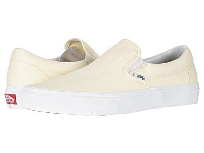 Vans Classic Slip-On Core Classics (White (Canvas)) Shoes