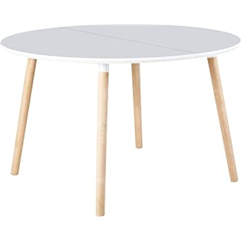 Kave Home Mesa Extensible Oqui Oval 120 (200) x 90 cm Blanco ...