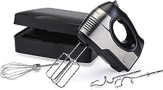 Hamilton Beach 6 Speed Hand Mixer with Quickburst, Storage Case, Bowl Rest (62647), 300W Peak Power, Stainless Steel