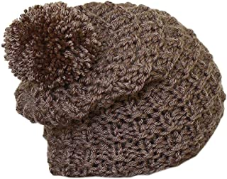 Knit Beanie Hat, Chunky Hat, Slouchy Hat, Men Hat, Unisex Hat in Taupe Brown Color