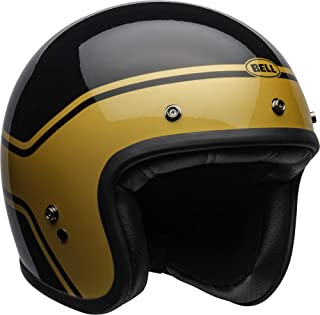 Bell Custom 500 Open-Face Motorcycle Helmet (Streak Gloss Black/Gold, Medium)