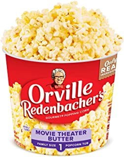 Orville Redenbacher's Movie Theater Butter Popcorn Tub, 3.9 Ounce, Pack of 12