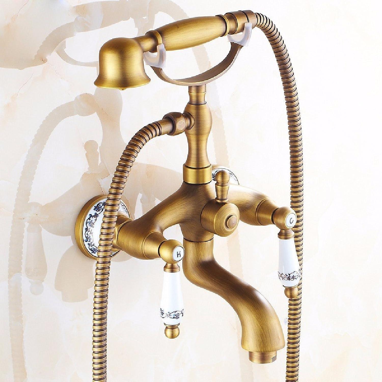 YFF@ILU Antike Badewanne Armatur im europischen Stil mit Dusche Single Head Set, f Dusche