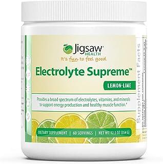 Jigsaw Health - Electrolyte Supreme Powder Drink Mix - Great Tasting Lemon-Lime Flavor - Broad Spectrum of ...