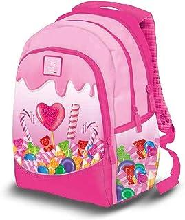 Pigna, Zaino, Zaino per Scuola Materna e Elementare, Zaino Bambina e Bambino con 3 scomparti, modello Caramelle