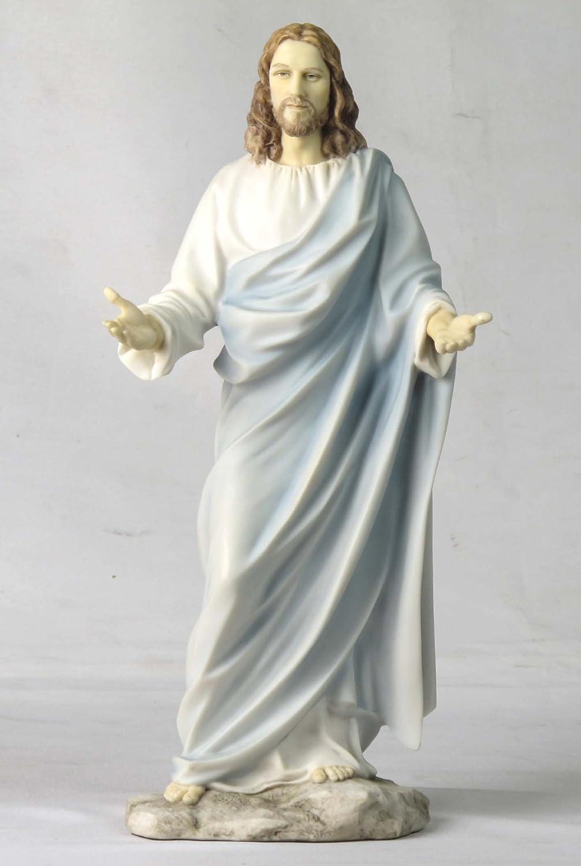 11.75 Inch Jesus with Open Arms Decorative Statue Figurine, White