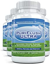 PURIFLUSH ULTRA 4 Bottles – Advanced All Natural Colon Cleanse Formula – Intestinal Detox Supplement for Cleansing Weight Loss Diet Support Bloat 60 Capsules per Bottle Estimated Price : £ 26,53