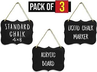 Small Chalkboard Hanging Signs Acrylic 4x6