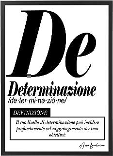Quadro Moderno Ufficio e Casa - Determinazione - Cornice varie dimensioni - Motivazionale Skills Made in Italy Mod.033