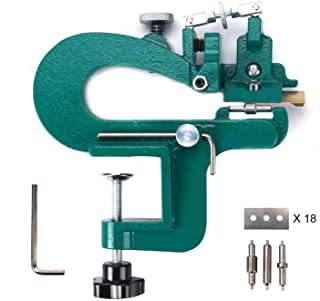 YaeTek Manual Leather Skiver Leather Paring Machine Leather Splitter Leather Craft Edge Skiving Machine with Blades
