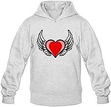 Men's Heart Wings Hoodie Sweatshirt