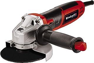 Einhell TC-AG 115/750, Amoladora angular (750 W, bloqueo para el husillo para cambio de herramientas, adecuada para discos de corte de 115 mm de diámetro, se suministra sin disco de corte)