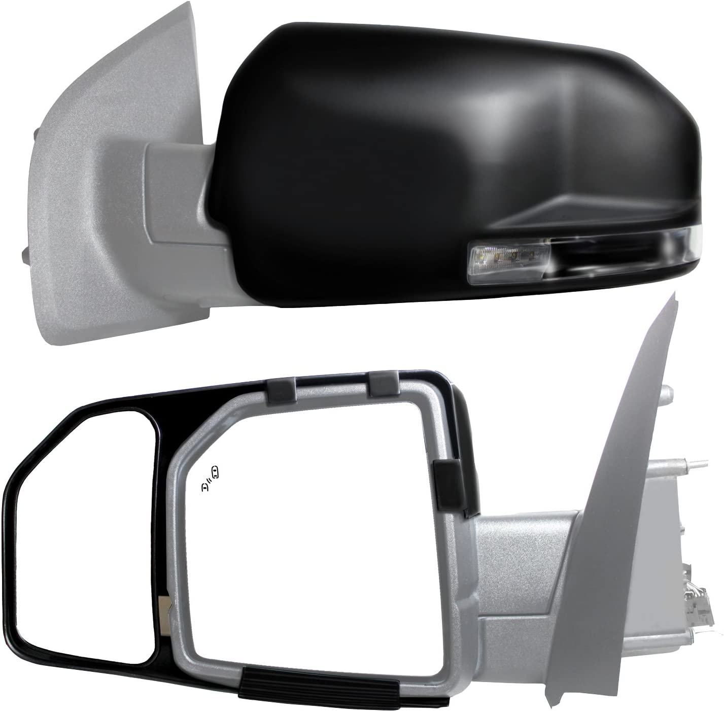Fit System trust 81850 Snap and Zap Sale special price Pair Tow 2015 F150 Up Mirror