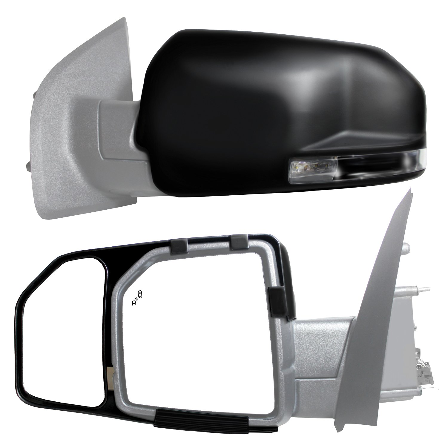 Fit System 70722T Toyota OEM Style Replacement Mirror