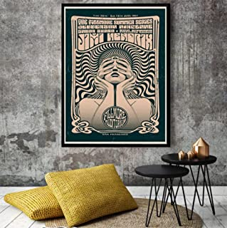Posters Auditorium Psychedelic Rock Poster Music Illustration Art Print Abstract Canvas Painting Pictures For Home Decorat...