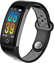 Dosmix Fitness Tracker, Activity Watch with Heart Rate, Blood Pressure and Respiratory Frequency Monitor, IP68 Water-Resistant with Calorie Steps Sleep Monitor for Women Kids Men/Android iOS(Black)