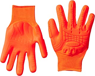 Mad Grip F50 Thunderdome Impact Gloves, Medium, High Vis Orange