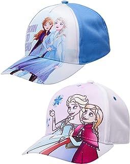 قبعة بيسبول قطنية فروزن للبنات من ديزني عبوة من قطعتين (الأعمار 2-7)